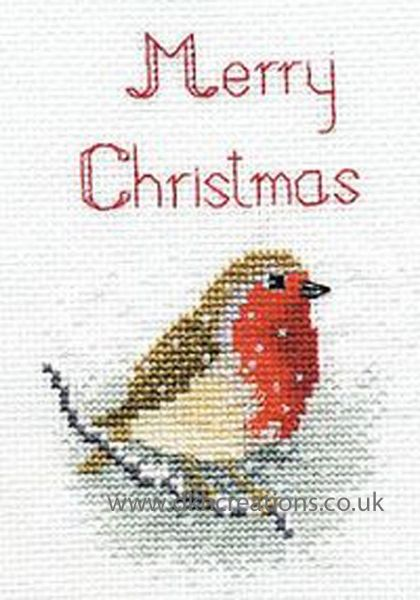 Snow Robin Greetings Card Cross Stitch Kit